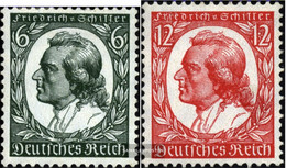 German Empire 554-555 (complete Issue) Unmounted Mint / Never Hinged 1934 F.of Schilller - Germany