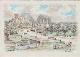 Carte Postale       BARRE  DAYEZ   BEAUVAIS   La Ville Vue Du Pont-route      2047 M - Beauvais