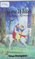 Télécarte Japon * DISNEY * 110-182033 * SNOW WHITE * BLACHE NEIGE  (5242)  Japan Phonecard * FILM * CINEMA - Disney