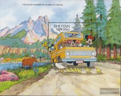 Bhutan Block303 Unmounted Mint / Never Hinged 1991 Walt-Disney-Figures - Bhután