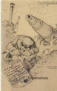 """AK """"Der Feldpostbrief"""" (K. Pommerhanz - Weltkrieg 1914-18"""