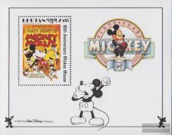 Bhutan Block186 Unmounted Mint / Never Hinged 1989 Walt-Disney-FIG Micky Maus - Bhoutan