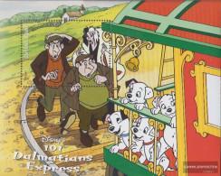 Guyana Block589 (complete.issue.) Unmounted Mint / Never Hinged 1999 Walt Disney Zeichentrickfilm - Guyana (1966-...)