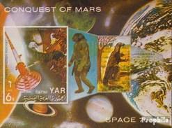 North Yemen (Arab Republic.) Block166 (complete.issue.) Unmounted Mint / Never Hinged 1971 Conquest Of Mars - Yemen
