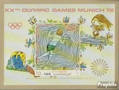 North Yemen (Arab Republic.) Block164 (complete.issue.) Unmounted Mint / Never Hinged 1971 Sports In Medieval - Yemen
