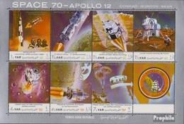 North Yemen (Arab Republic.) 1129-1135 Sheetlet (complete.issue.) Unmounted Mint / Never Hinged 1970 Moon Landing - Apol - Yemen