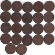British India Collection Of 22 ¼ Anna Coins 1903-1940 All Listed & Different - India