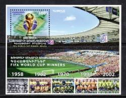 Armenien / Armenie / Armenia 2017, Sport, FIFA World Cup Winners, Brazil  SS - MNH** - Armenia