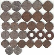 British India Collection Of 30 King George VI Coins 1939-1947 All Listed & Different - India