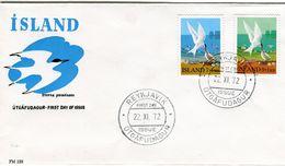 Iceland/Islande/Ijsland/Island FDC 22.XI.1972 Arctic Tern Matching Cover FM-129 - FDC