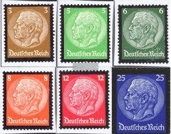 German Empire 548-553 (complete Issue) Unmounted Mint / Never Hinged 1934 Hindenburg-Grief - Germany
