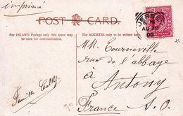 Carte Postale Île De Jersey 1905 Grève De Lecq Îles Anglo-Normandes - Briefe U. Dokumente