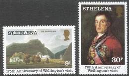 St Helena. 1980 175th Anniv Of Wellington's Visit. MNH Complete Set. SG 367-68 - Saint Helena Island