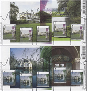 2947-2948A Schöne Niederlande: Vollenhoven Und Trompenburg - Kleinbogen-Satz ** - Zonder Classificatie