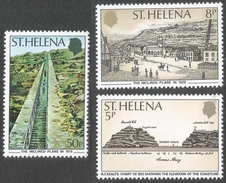 St Helena. 1979 150th Anniv Of Inclined Plane. MNH Complete Set. SG 355-357 - Saint Helena Island