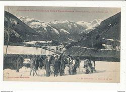64 EAUX BONNES CONCOURS INTERNATIONAL DE SKIS LE CONTROLE A LA CABANE DE LEY CONCOURS 1908  CPA BON ETAT - Eaux Bonnes