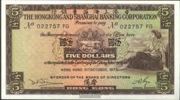 Hong Kong Pick-number: 181f (1973) Uncirculated 1973 5 Dollars - Hong Kong