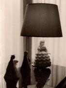 Photo Originale Une Très Jolie Lampe Poupée Années 1950/60 - Le Kitsch Dans Sa Splendeur ! - Objetos