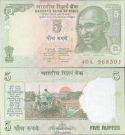 Indien Pick-Nr: 88A G, Letter R Bankfrisch 2010 5 Rupees - Indien
