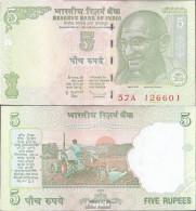 Indien Pick-Nr: 88A (2009) Letter L Bankfrisch 2009 5 Rupees - Indien