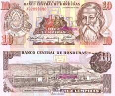 Honduras Pick-Nr: 70a Bankfrisch 1989 10 Lempiras - Honduras