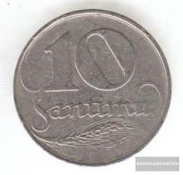 Latvia Km-number. : 4 1922 Very Fine Nickel Very Fine 1922 10 Santimi Crest - Lettland