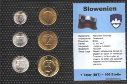 Slovenia Stgl./unzirkuliert Kursmünzen Stgl./unzirkuliert 1992-2004 10 Stotin Until 5 Tolar - Slovenia