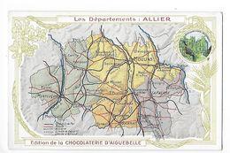 LES  DEPARTEMENTS  - ALLIER   - Chromo Chocolaterie D'Aiguebelle -   -  L 1 - Fiches Illustrées