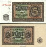 DDR Rosenbg: 342d, KN 7-stellig, Davor Zwei Buchstaben, Mit Plattennummer Gebraucht (III) 1948 5 Deutsche Mark - 5 Deutsche Mark