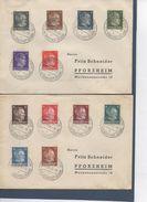"""Allemagne - Effigie D'Hitler - Timbres De 1941-43 Surchargés """"UKRAINE"""" , Cachet De ROWNO (RIVNE) Du 13 Décembre 1943 - Deutschland"""