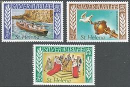 St Helena. 1977 QEII Silver Jubilee. MH Complete Set. SG 332-334 - Saint Helena Island