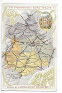 LES  DEPARTEMENTS  - EURE Et LOIR   - Chromo Chocolaterie D'Aiguebelle -   -  L 1 - Picture Cards