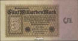 Allemand Empire Rosenbg: 112b, Privatfirmendruck Filigrane Eichenlaub Utilisé (III) 1923 5 Milliards Mark - [ 3] 1918-1933 : Weimar Republic
