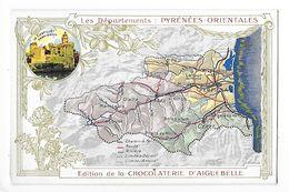 LES  DEPARTEMENTS  - PYRENEES-ORIENTALES   - Chromo Chocolaterie D'Aiguebelle -   -  L 1 - Fiches Illustrées
