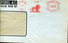 29806 Germany Reich  Red Meter/freistempel/ema/  Berlin 1931 Loewe Gesfurel , Circuled Part Of Cover - Machine Stamps (ATM)