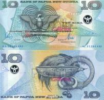Papua-Neuguinea Pick-Nr: 26b Bankfrisch 2002 10 Kina (plastic) Vogel - Papouasie-Nouvelle-Guinée