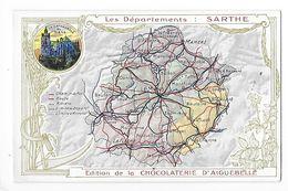 LES  DEPARTEMENTS  -  SARTHE   - Chromo Chocolaterie D'Aiguebelle -   -  L 1 - Fichas Didácticas