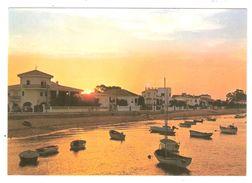 PUNTA UMBRIA, Huelva, Andalucia, Espana :Puesta De Sol En La Ria; Coucher De Soleil , TB - Huelva