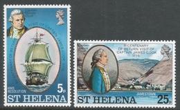 St Helena. 1975 Bicentenary Of Captain Cook's Return To St Helena. MH Complete Set. SG 307-308 - Saint Helena Island