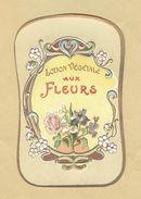Etiquette Gaufrée Parfum Lotion Végétale Aux Fleurs Format : 5,5 Cm X 8,6 Cm En Superbe.Etat - Labels