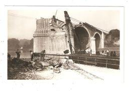 CPA 77 MELUN Juin 1940 Le Pont Du Méé Pont Détruit Ouvriers - Melun