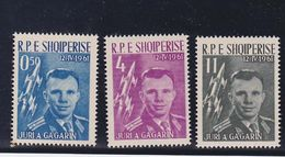 Albania 1962 Gagarin,set MNH Sc 604/6         A280 - Albanië