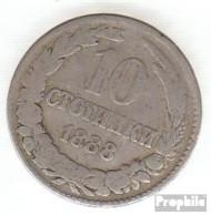Bulgarien KM-Nr. : 10 1888 Schön Kupfer-Nickel 1888 10 Stotinki Wappen - Bulgaria