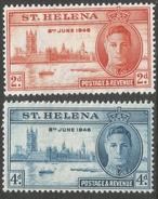 St Helena. 1947 Victory. MH Complete Set. SG 141-142 - Saint Helena Island