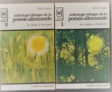"""Anthologie De La Poesie Allemande 2 Volumes Edit Marabout 1967 """"TTB état """" (bib8) - Poésie"""