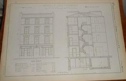 Plan De Maison à Loyer économique. 1858 - Public Works