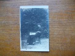 "Ancienne Carte Photo , Silhouette De Femme "" Jeanne "" - Silhouettes"