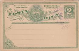Costa Rica Entier Postal. - Costa Rica