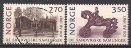 Norwegen  (1987)  Mi.Nr.  971 + 972  Gest. / Used  (15eu16) - Norwegen