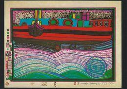 Wiechmann Bildkarte: Friedensreich Hundertwasser. Regentag Auf Liebe Wellen.   # 0173 - Paintings